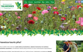 Front page of a garden designers website