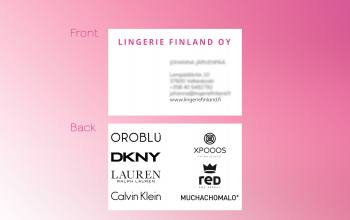 Lingerie Finland business cards