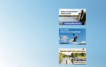 Ads for town of Pälkäne on outdoor LED-screens