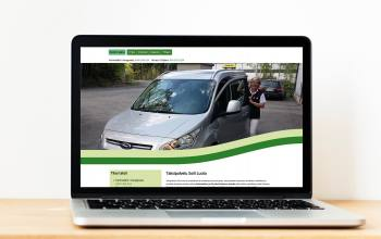 Website for a taxi company in Finland