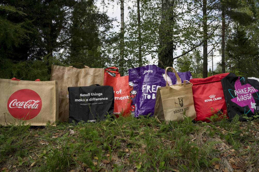 Promotion Concept promo bags in nature