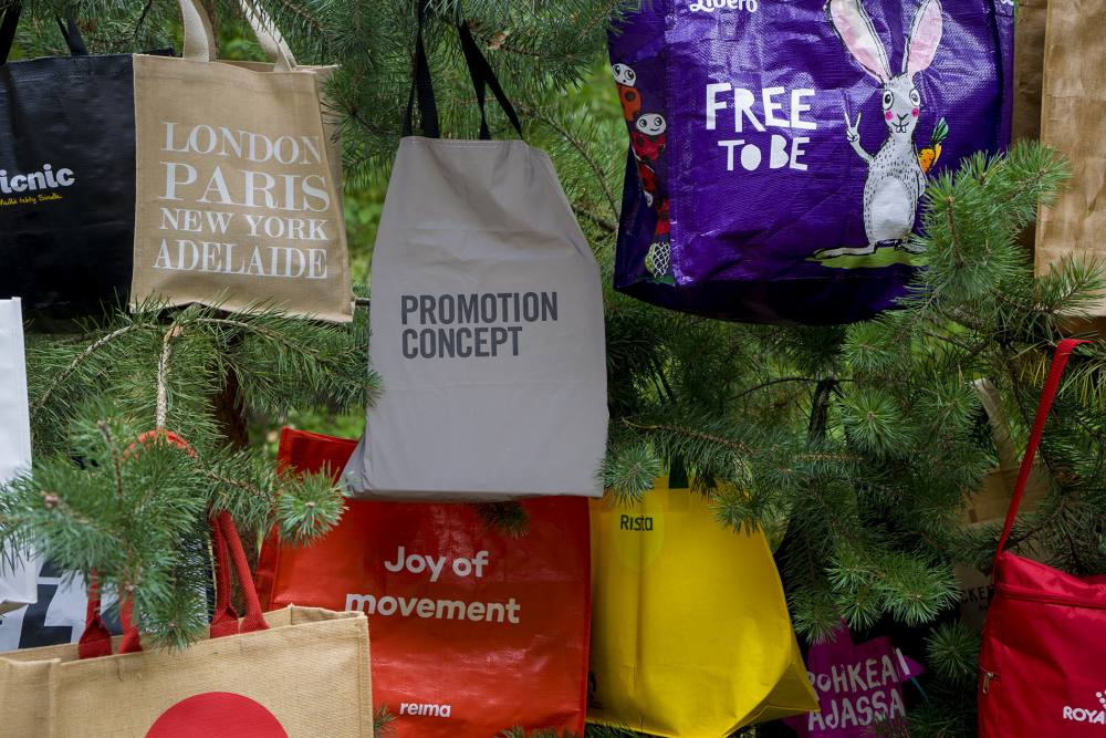 Promotion Concept promo bags in a tree