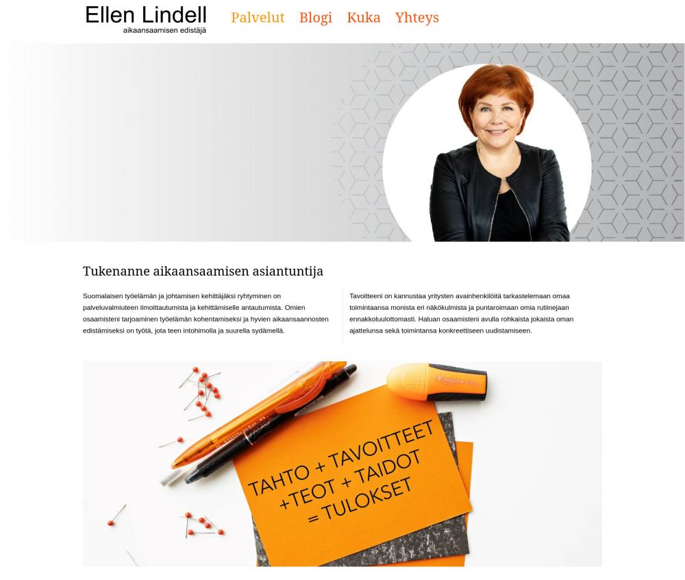 Management coach Ellen Lindell Webseite