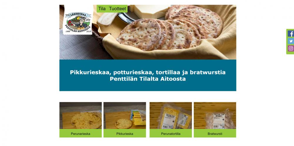 Potturieska website Products page